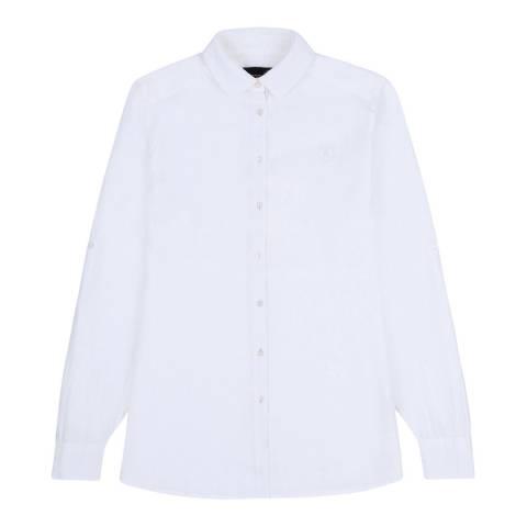 Musto White Annabel Linen Shirt