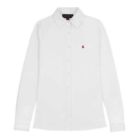 Musto White Effortless Long Sleeve Shirt
