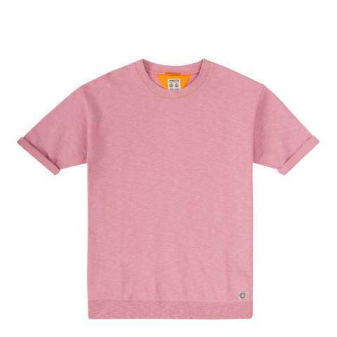Musto Pink Island Slub Short Sleeve Sweater