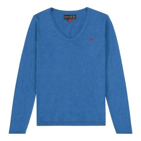 Musto Blue Charlotte V-Neck Knit
