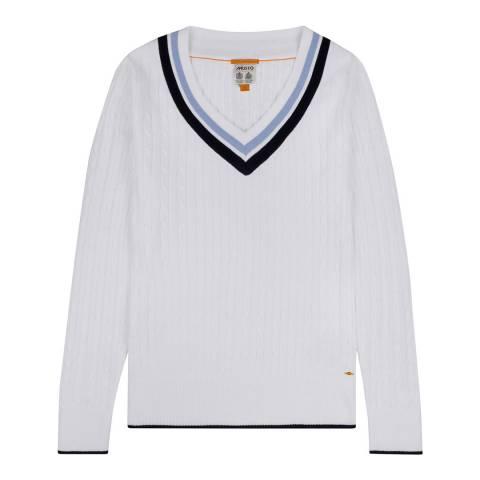 Musto White Sunset V-Neck Knit