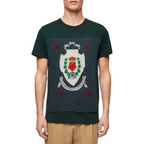 Kent & Curwen Green Royal Rose Cotton T-Shirt