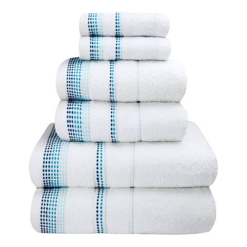 Rapport Berkley Set of 6 Towels, White