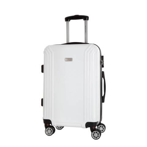 Platinium White Kirwee 8 Wheeled Suitcase 60cm