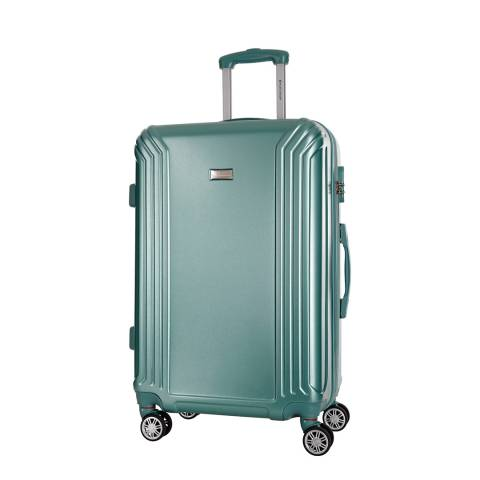 Platinium Green Kirwee 8 Wheeled Suitcases Medium