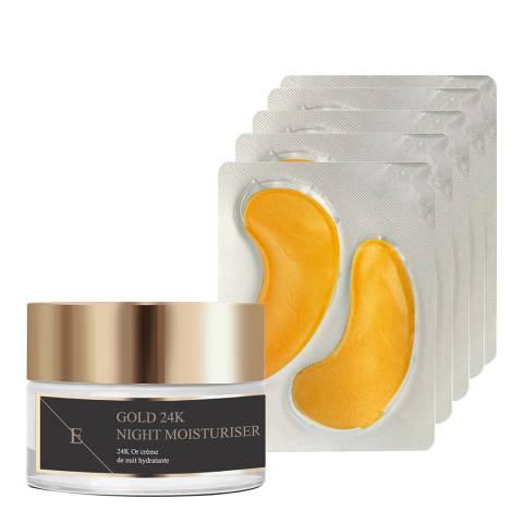 Eclat Skin London Anti-Wrinkle Moisturiser 24k Gold + Collagen Gold Under Eye Patch 24k Gold