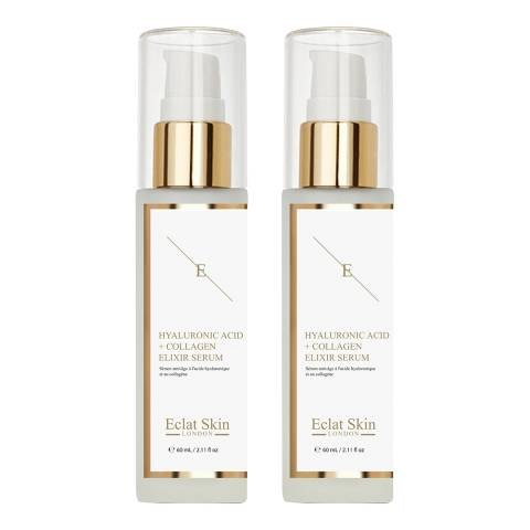 Eclat Skin London Anti-Ageing Serum With Hyaluronic Acid And Collagen- 60ml X 2