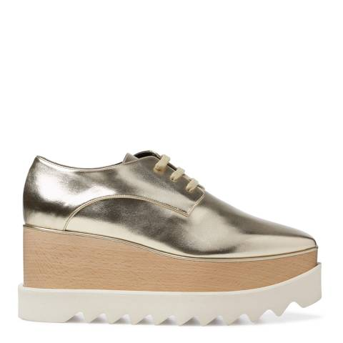 Stella McCartney Gold Metallic Leather Phemie Platforms