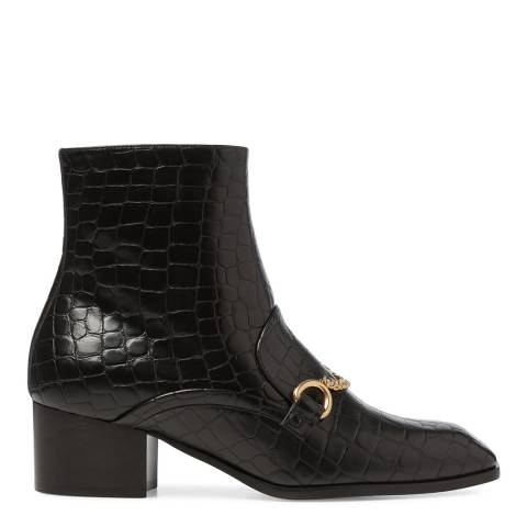 Stella McCartney Black Prosper Reptile Ankle boots