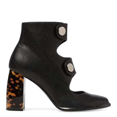Stella McCartney Black Posie Cut Out Ankle Boots