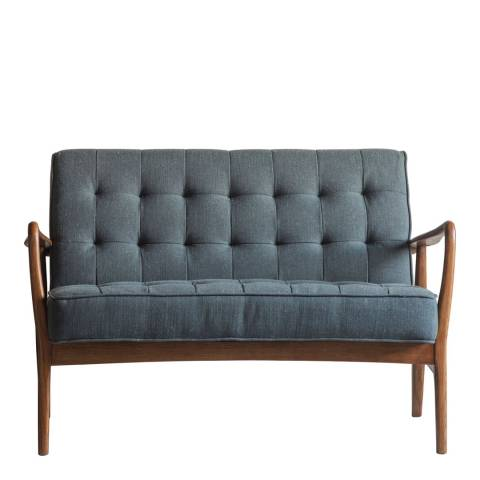 Gallery Humber 2 Seater Sofa, Dark Grey Linen