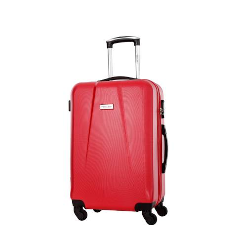 Travel One Red Pandara 4 Wheel Suitcase