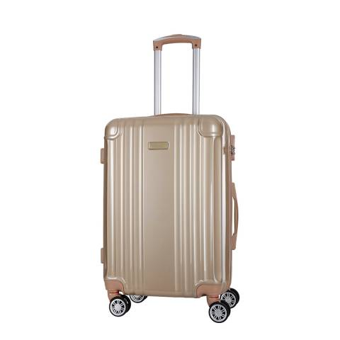 Travel One Beige Comilla 8 Wheeled Suitcase