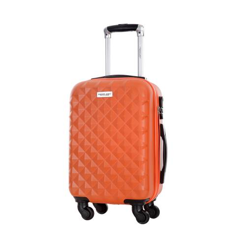 Travel One Orange Edison 4 Wheeled Suitcase 55cm