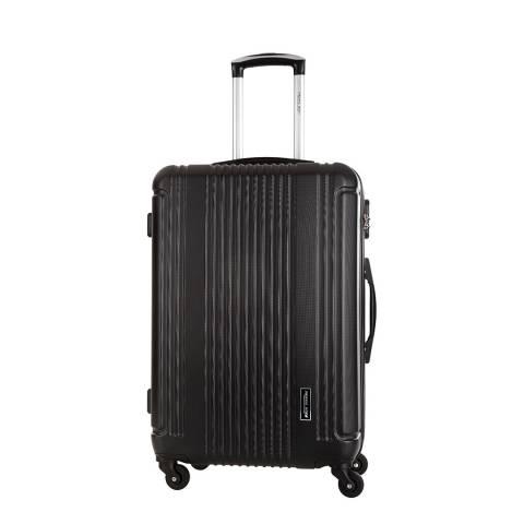 Travel One Black Barton 4 Wheeled Suitcase
