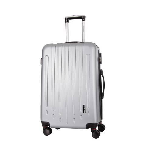 Travel One Silver Haryana 8 Wheeled Suitcase
