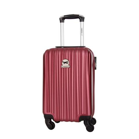 Cabine Size Red 4 Wheeled Cabin Suitcase 46cm