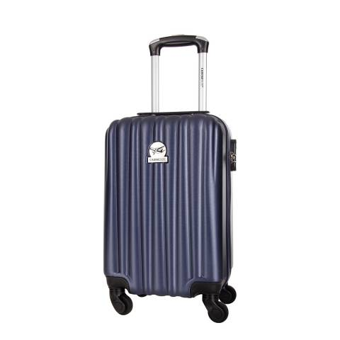 Cabine Size Navy Bright 4 Wheeled Cabin Suitcase 46cm