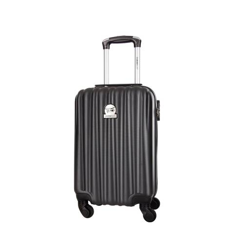 Travel One Black Bright 4 Wheeled Cabin Suitcase