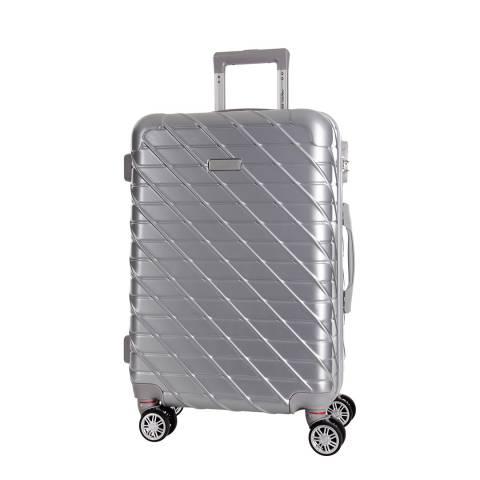 Travel One Silver Leiria 8 Wheel Suitcase