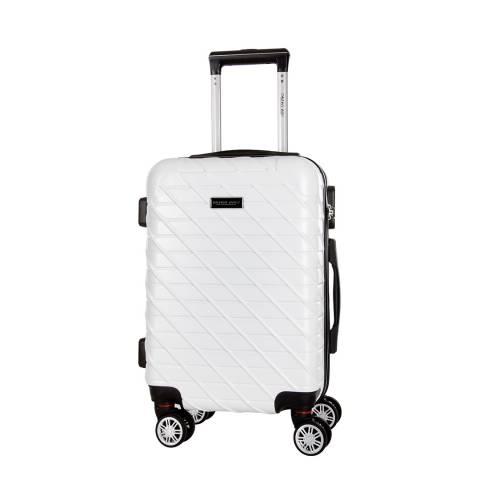 Travel One White Leiria 8 Wheel Suitcase