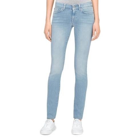 7 For All Mankind Blue Cristen Slim Illusion Stretch Slim Jeans