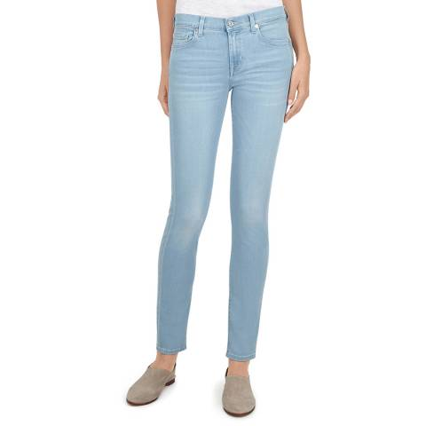 7 For All Mankind Blue The Skinny Stretch Jeans