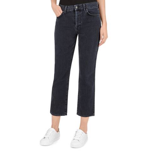 7 For All Mankind Black Edie Cropped Jeans