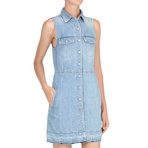 7 For All Mankind Light Indigo Denim Shirt Dress