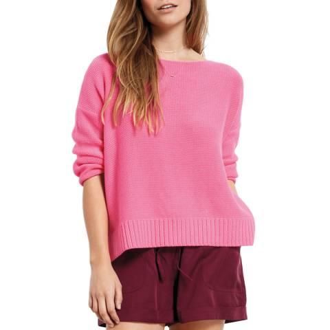 hush Bright Pink Jo Boxy Cotton Jumper