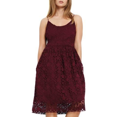 Hush Wine Red Skylar Lace Dress