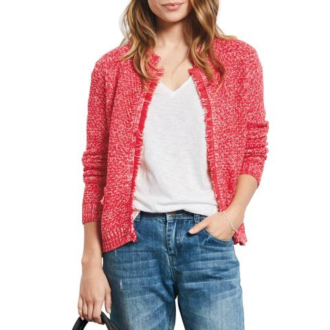 hush Orange/White Basket Stitch Jacket