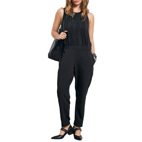 Hush Black Lace Detail Jumpsuit