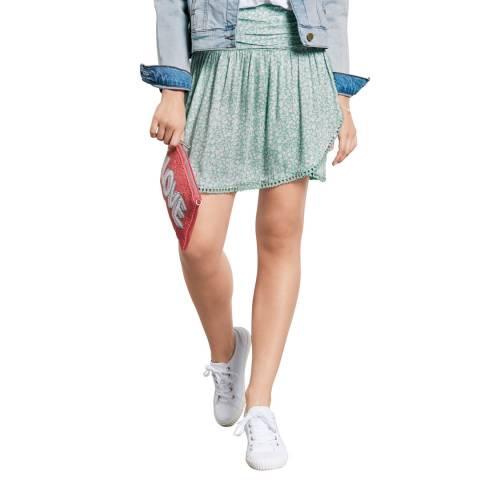 hush Green Fringe Detail Skirt