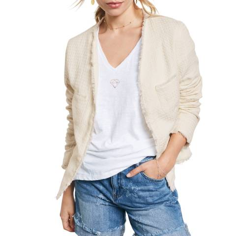 hush Ecru Cotton Audrey Jacket