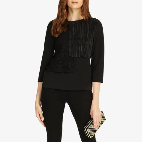 Phase Eight Black Lola Lace Top