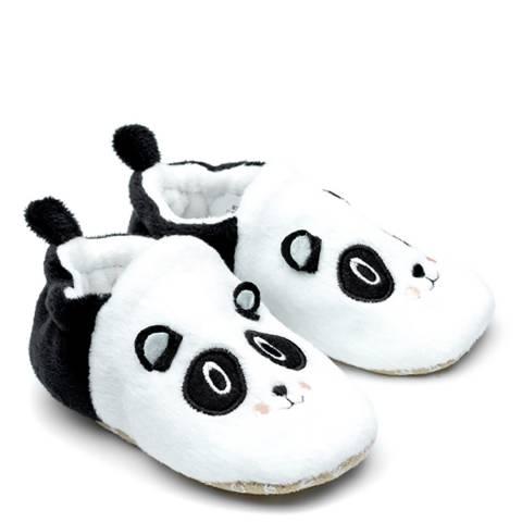 Chipmunks Black/White Bei Bei Baby Slippers