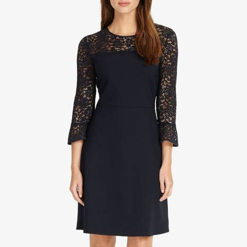 Phase Eight Navy Esme Lace Dress