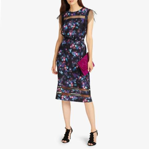 Phase Eight Black/Multi Kacy Floral Dress