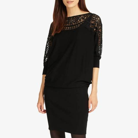 Phase Eight Black Lace Becca Dress