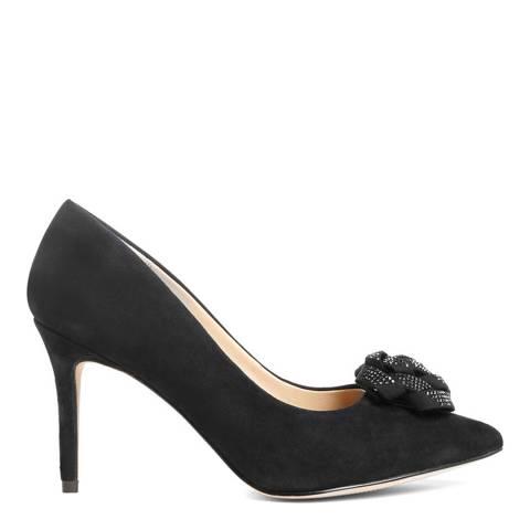 Phase Eight Black Sasha Suede Court Shoes