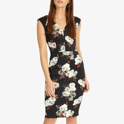 Phase Eight Black/Multi Ciara Floral Dress