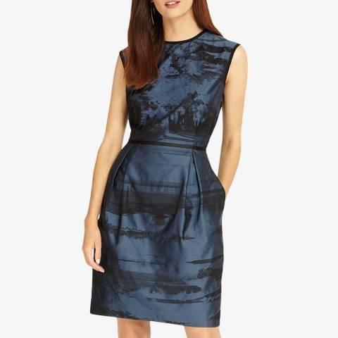 Phase Eight Sapphire Blue Naya Stripe Dress