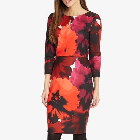 Phase Eight Red Fleur Floral Dress
