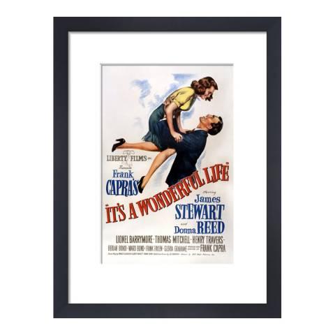 Cinema Greats It's a Wonderful Life Framed Print, 28x36cm