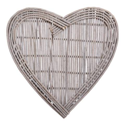how to make a large wicker heart