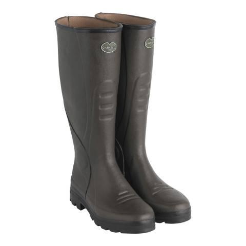 Le Chameau Men's Brown Traqueur Rubber Boots