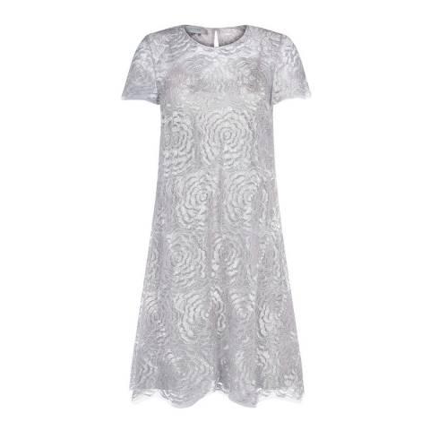 Hobbs London Silver Rose Dress