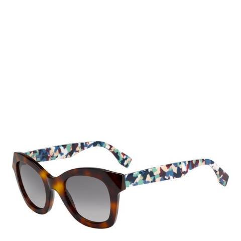 Fendi Women's Havana/Multicoloured Fendi Sunglasses 52mm