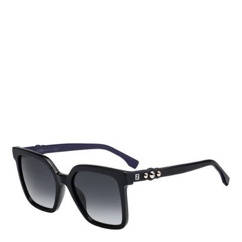 Fendi Women's Black/Blue Fendi Sunglasses 54mm